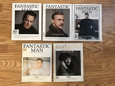 Fantastic Man Lot of 5 Issues Raf Simons Christoph Waltz Kyle MacLachlan