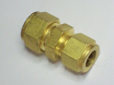 "1-Swagelok Brass Reducing Union Fitting, 5/8"" Tube x 1/2"" Tube, B-1010-6-8"