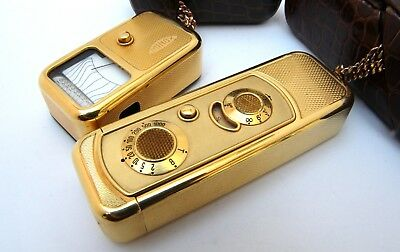 Vintage MINOX A III  18K gold plated set spy camera light meter Great condition