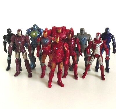 "Marvel Universe Action Figure 3.75"" Iron Man Set Hall Of Armor 10 Figures"