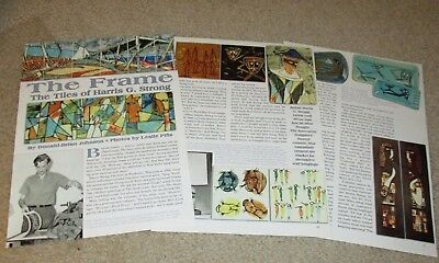 Magazine Article on Artist HARRIS G. STRONG Mid-Century Tile Artist 2006