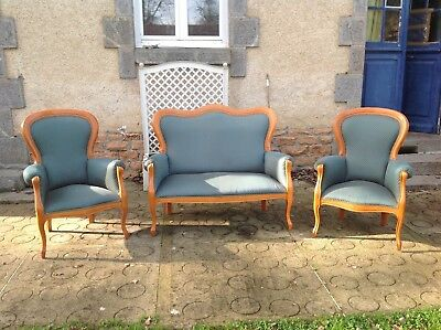 French vintage Louis philippe style cherrywood 3 piece suite