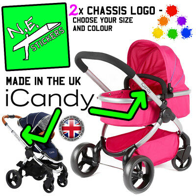 iCandy Replacement Chassi Logo Sticker colour choice Candy i-Candy