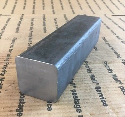 "2"" X 2"" SQUARE BAR SQUARE SHAFT 8"" Long Solid Bar Blacksmithing Machining A 36"