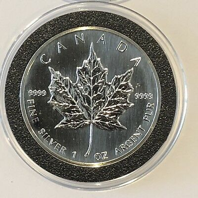 1990 Canadian Maple Leaf Canada 1 Troy Oz .9999 Fine Silver Collectible CA Coin