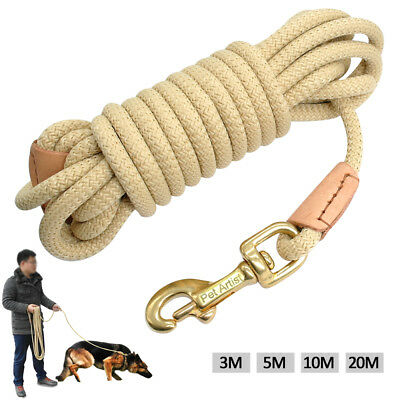Long Dog & Horse Training/Tracking/Lunge/Rein Leash Recall Obedience Rope Leads