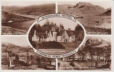 Fort William - Corpach Multiview - Real Photo  Postcard #