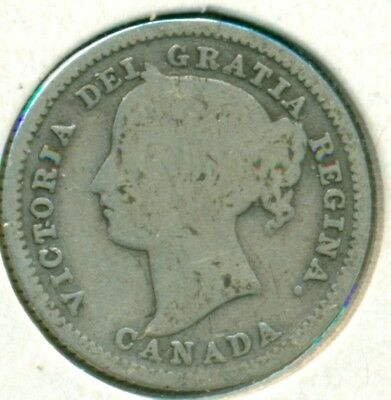 1884 Canada Silver Ten Cents, Good, Very Scarce, Great Price!