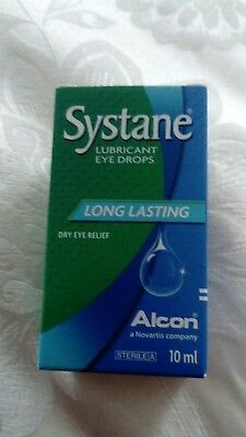 Alcon Systane Long Lasting Lubricant Eye Drops - Dry Eye Relief 10Ml New Sealed