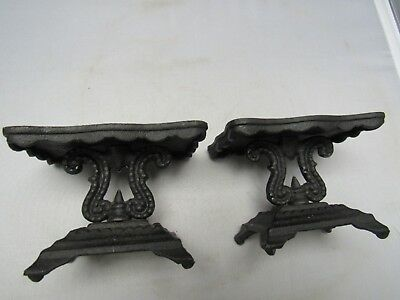 Matching Pair of Vintage Miniature Cast Iron Tables Dollhouse Toy Iron Art JM272