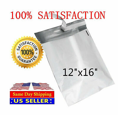 200 12x16 WHITE POLY MAILERS ENVELOPES BAGS 12 x 16 - ST ShipMailers