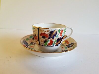 19Th Century Gaudy Welsh Cup And Saucer