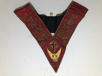 Vintage Rose Croix 18th Degree collar and apron