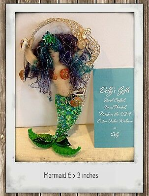 Mermaid  Felt Ornament from Seashore Collection of 6 Beach Themed Ornaments