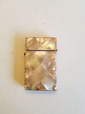 19Th Century Mother Of Pearl And Marine Shell Card Case