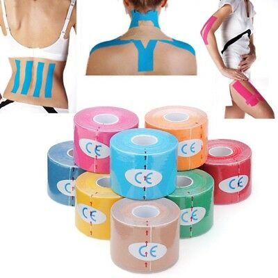 6 Rolls Sports Kinesiology Tape Elastic Therapeutic Physio Muscle Pain Relief UK