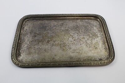 "1951 WALDORF ASTORIA Hotel Silver Soldered 16.5""  X 12""  Tray with Insignia"