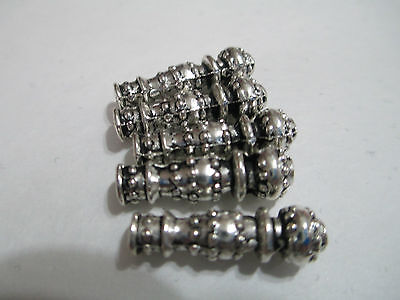 5pcs Tibetan style vase Spacer silver c Findings , imam, master beads for rosary