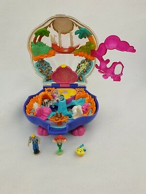Vintage Polly Pocket Disney  The Little Mermaid Playcase 1996 Excellent