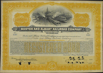 USA Boston and Albany Railroad bond 10.000 Dollar 1931 Eisenbahn