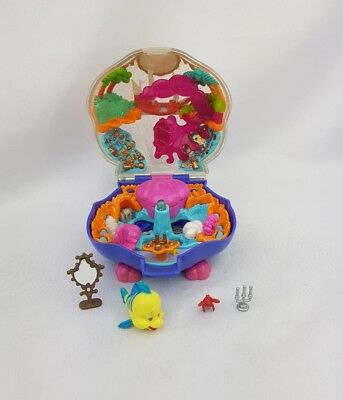 Vintage Polly Pocket Disney  The Little Mermaid Playcase Figures 1996 Excellent