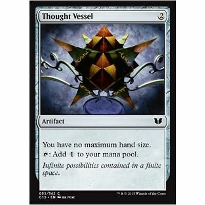 1x THOUGHT VESSEL - Rare - Commander - MTG - NM - Magic the Gathering