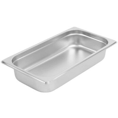 """(12-Pack) 1/3 Size 2 1/2"""" Deep Stainless Steel Silver Steam Table / Hotel Pans"""