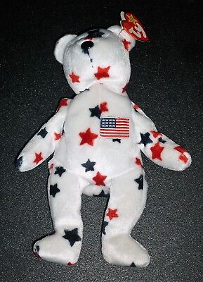 Ty Beanie Baby Glory The Bear 1997 Beanie Babies Retired With Tags