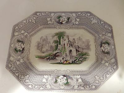 Antique Ironstone Abbey Plate or Platter, Excellent Condition