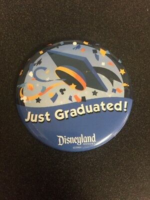 Disney Disneyland ~ Just Graduated Button Pin