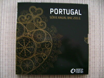 TOP  Portugal Euro KMS 2011 mit 1 Cent - 2 Euro  im Blister u. Schuber  TOP