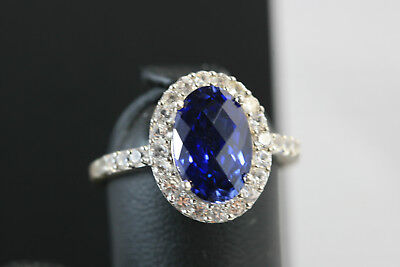 D472 Diana CZ Sterling 925 Ring Size 8 1/4