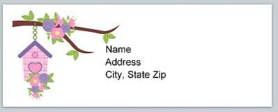 Personalized Address labels Primitive Country Birdhouse Buy 3 Get 1 free p 150