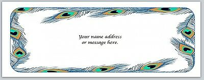 30 Personalized Return Address Labels Peacock Feathers Buy 3 Get 1 Free Bo 588