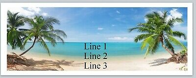 Personalized Address labels Beach Scene Palm Trees Buy 3 get 1 Free jx 6