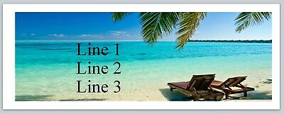 30 Personalized Return Address Labels Scenic Beach Buy 3 get 1 free (c 751)