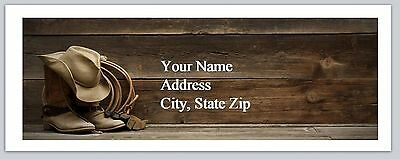 30 Personalized Address Labels Country Cowboy Buy 3 get 1 free (ac 942)