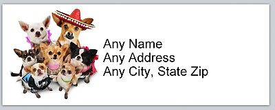Personalized Address Labels Cute Dogs Buy 3 get 1 free (ac 756)