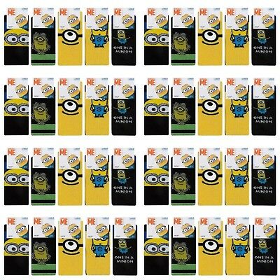 48 Pairs Mens Despicable Me Minions Socks Assorted Size 6-11 Wholesale Job Lot.
