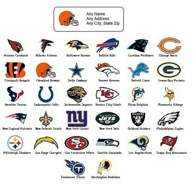 30 Personalized Return Address labels Sports Football Buy 3 get 1 free (sf1)