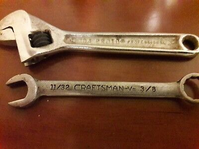 Proto 4in cresent wrench craftsman 3/8 wrench