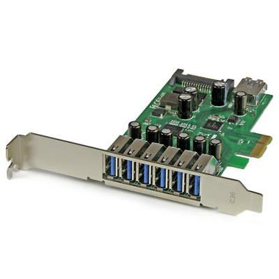 StarTech.com 7-Port PCI Express USB 3.0 Card - Standard and Low-Profile Ports