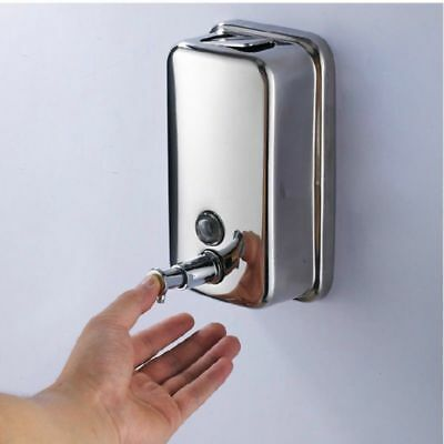 Stainless Steel Wall Mount Soap Lotion Dispenser 1000ml New