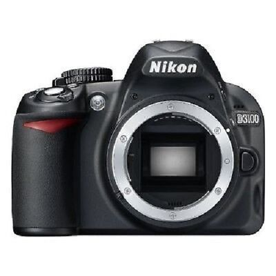 USED Nikon D3100 14.2 MP Digital SLR Body Excellent FREE SHIPPING