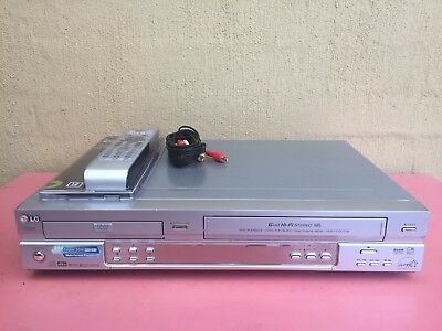 Serviced LG V782 Combo VCR DVD player + Video Recorder + Remote + RCA VHS