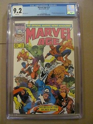Marvel Age #12 Spider-Man Black Costume Concept Art pre ASM #252 CGC 9.2 NM-