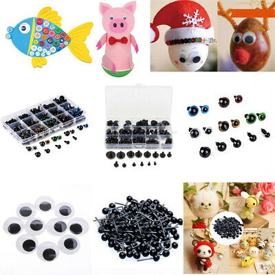 2-50mm Plastic Safety Glass Black Eyes Teddy Bear Doll Animal Make Soft Toy DIY