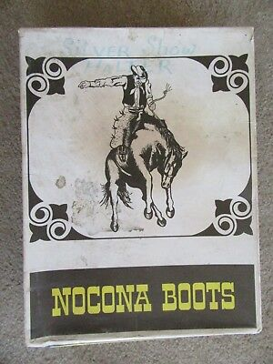 Vintage Nocona Boot Co Cowboy Work Boots Texas Empty Graphic Advertising Box!