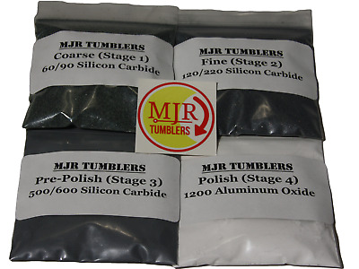 Rock/Stone Polishing Grit Kit for Lapidary Use in 15 lb Tumblers