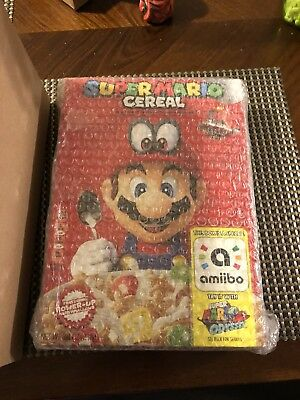 Super Mario Odyssey Cereal Limited Edition Two Or More Shipped In Box Look!!